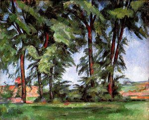 Paul Cezanne - Tall Trees At The Jas De Bouffan