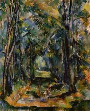 Paul Cezanne - The Alley At Chantilly
