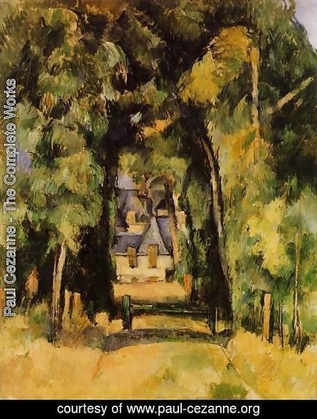 Paul Cezanne - The Alley At Chantilly2