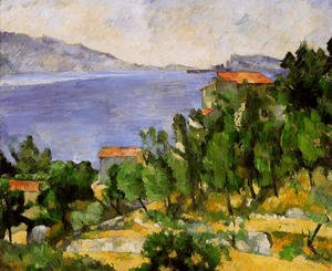 Paul Cezanne - The Bay Of L Estaque From The East