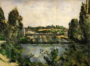 Paul Cezanne - The Bridge And Waterfall At Pontoise
