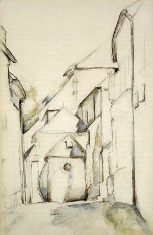 Paul Cezanne - The Church Of Saint Pierre In Avon