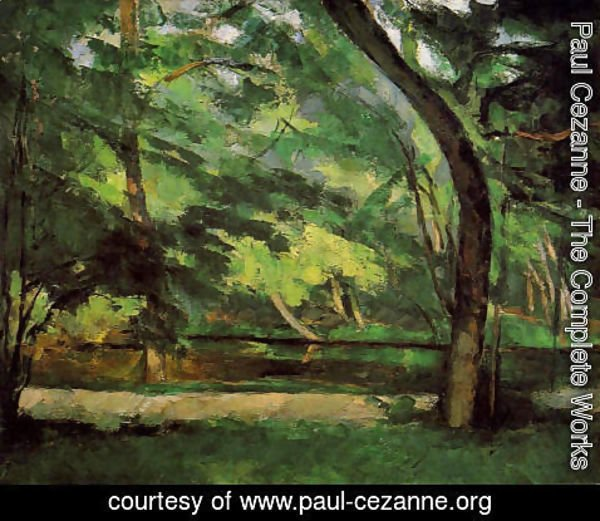 Paul Cezanne - The Etang Des Soeurs At Osny