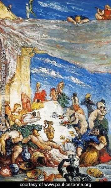 Paul Cezanne - The Feast Aka The Banquet Of Nebuchadnezzar