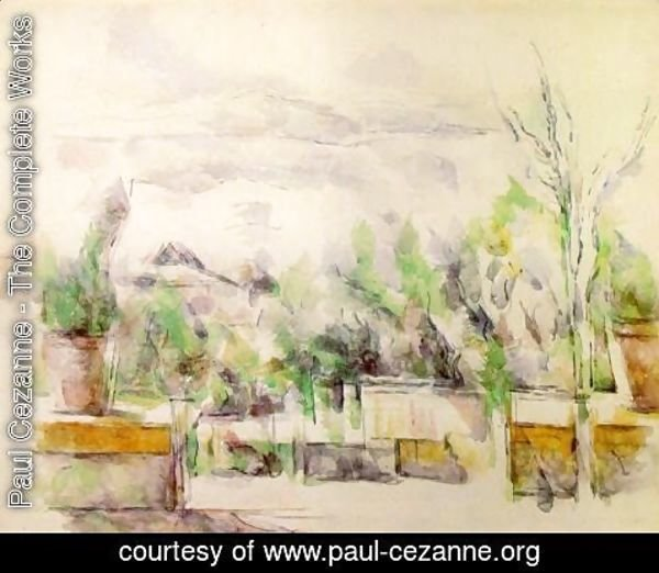 Paul Cezanne - The Garden Terrace At Les Lauves