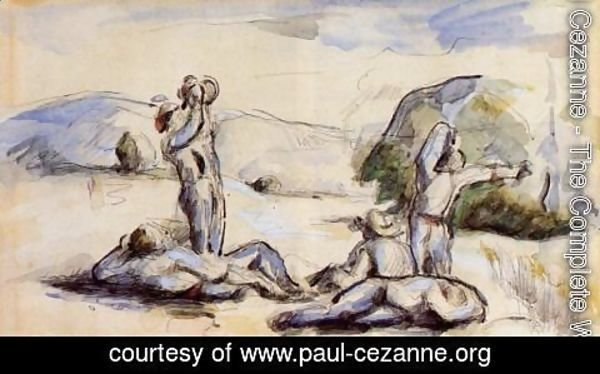 Paul Cezanne - The Harvesters