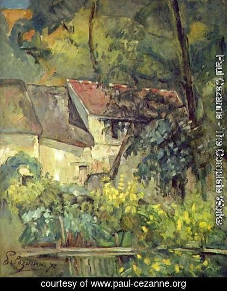 Paul Cezanne - The House Of Pere Lacroix In Auvers