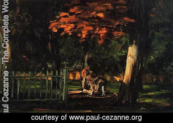 Paul Cezanne - The Lion And The Basin At Jas De Bouffan
