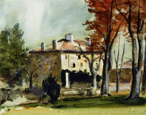 Paul Cezanne - The Manor House At Jas De Bouffan