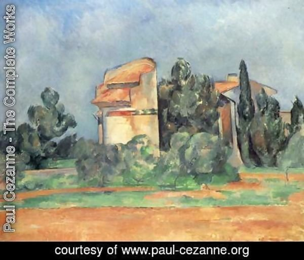 Paul Cezanne - The Pigeon Tower At Bellevue