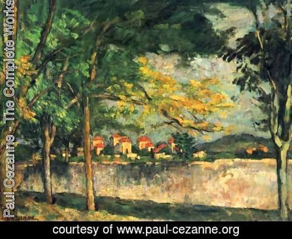 Paul Cezanne - The Road Aka The Ancient Wall