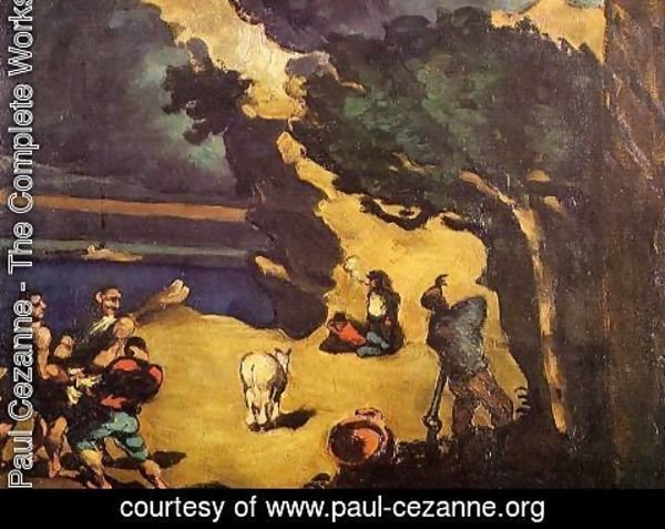 Paul Cezanne - The Robbers And The Donkey