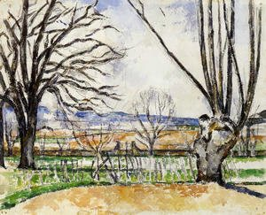 Paul Cezanne - The Trees Of Jas De Bouffan In Spring