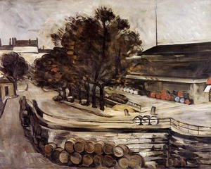 Paul Cezanne - The Wine Depot  Seen From Rue De Jussieu
