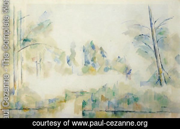 Paul Cezanne - Trees By The Water