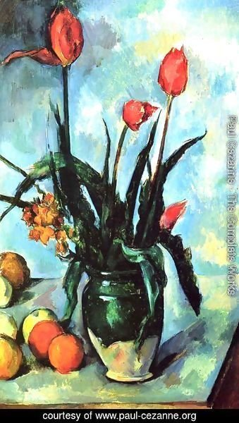 Paul Cezanne - Tulips In A Vase