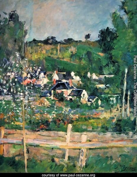 View Of Auvers Sur Oise Aka The Fence
