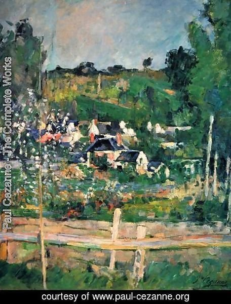 Paul Cezanne - View Of Auvers Sur Oise Aka The Fence