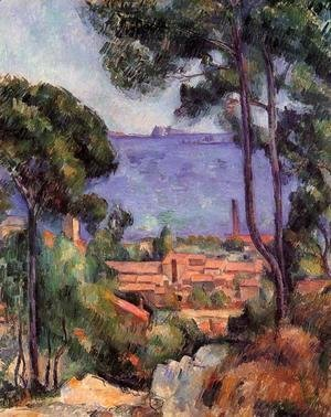 Paul Cezanne - View Through The Trees