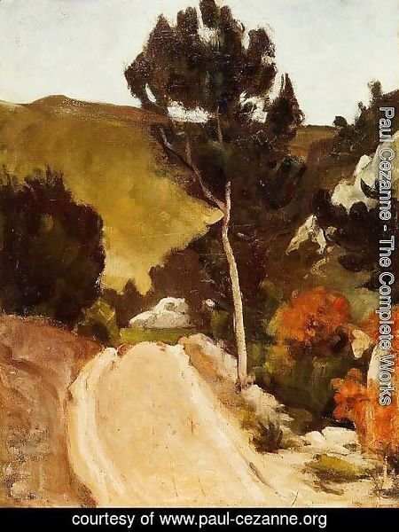 Paul Cezanne - Winding Road In Provence