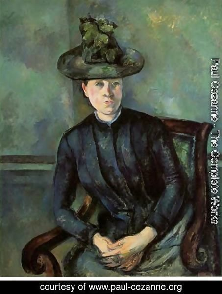 Paul Cezanne - Woman In A Green Hat Aka Madame Cezanne
