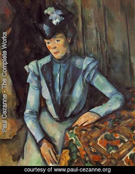 Paul Cezanne - Woman In Blue