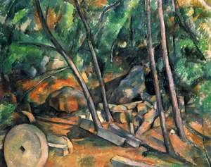 Paul Cezanne - Woods With Millstone