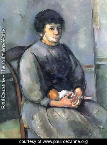 Paul Cezanne - Young Girl With A Doll
