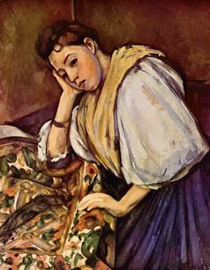 Paul Cezanne - Young Italian Girl Resting On Her Elbow