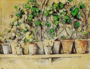Paul Cezanne - Pots of Flowers